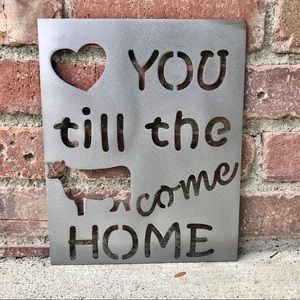 Rustic Farm Sign- Love You till the Cows Come Home